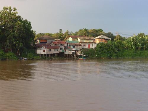 Malay Houses, Sarawak River, Kuching