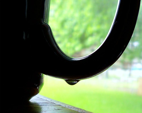 Water Droplet on Black Mug by A Girl With Tea, on Flickr