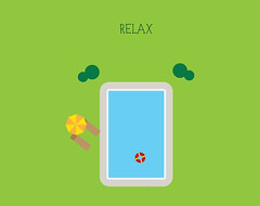 Day 80 - Relax (Besim_Hakramaj) Tags: vacation inspiration illustration swimming project relax design graphic daily zen poll 365days dailydesign