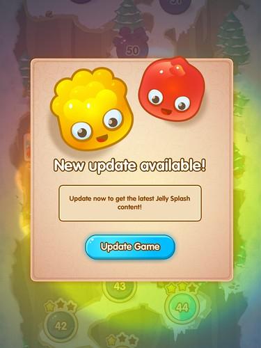 Jelly Splash Update App: screenshots, UI