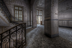Up to You (Opiesse) Tags: urban abandoned hospital explorer stairwell scala urbex abbandonato