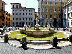 Fontana del Moro - Piazza Navona - Rome - July 2016 a (litlesam1) Tags: italy rome soloromejuly2016 july2016 fountains