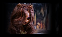 Smaug's lair became a tourist attraction (Allan Saw) Tags: clawdeenwolf monster high doll toy portrait cave werewolf girl hoard ears fangs