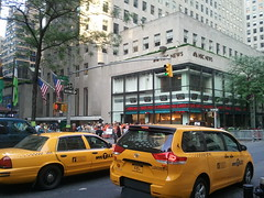 morning walk to work (starpants) Tags: nyc newyorkcity television nbc walk cab taxi rockefeller 2011
