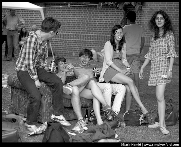 Some spectators relaxing during the races, Summer VIII's, Oxford, 2011.