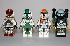 Delta Squad (Gio Customs) Tags: boss starwars lego sev minifig custom commando scorch fixer omegasquad deltasquad
