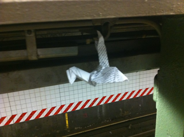 Paper Crane Subway edition