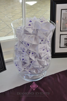 Cootie Catchers at Wedding Reception
