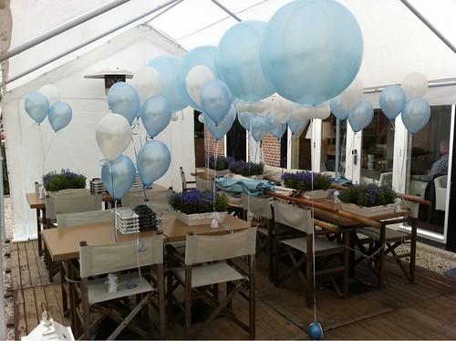 Tafeldecoratie 3ballonnen Baby Geboren Strooppannenkoeken Zuidland