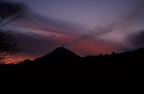 sunset over volcano, Colima NP, Colima, MX 1997_03_23 001.jpg