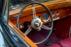 1954 Alvis TC 21 convertible dashboard (ClassicarGarage / Marc Vorgers) Tags: blue red rot leather silver rouge blauw 21 metallic interior interieur tc marc blau rood argent smiths leder alvis cabriolet silber zilver veglia converible tc21 vorgers classicargarage
