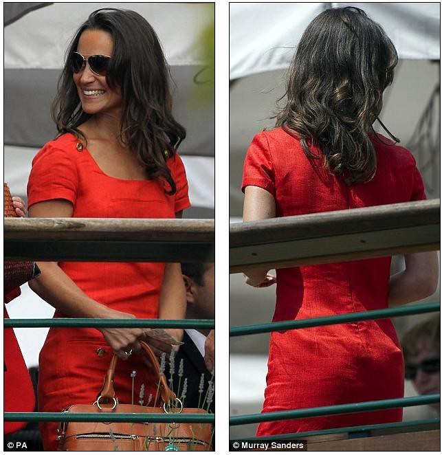 Pippa Middleton ends speculation of a break-up as she and boyfriend Alex Loudon arrive at Wimbledon  8