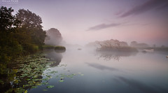 A Perfect Morning (.Brian Kerr Photography.) Tags: trees sky mist clouds canon reflections river landscape boats scotland earlymorning naturereserve lillypads dumfriesandgalloway threave castledouglas threavecastle eos5dmkii