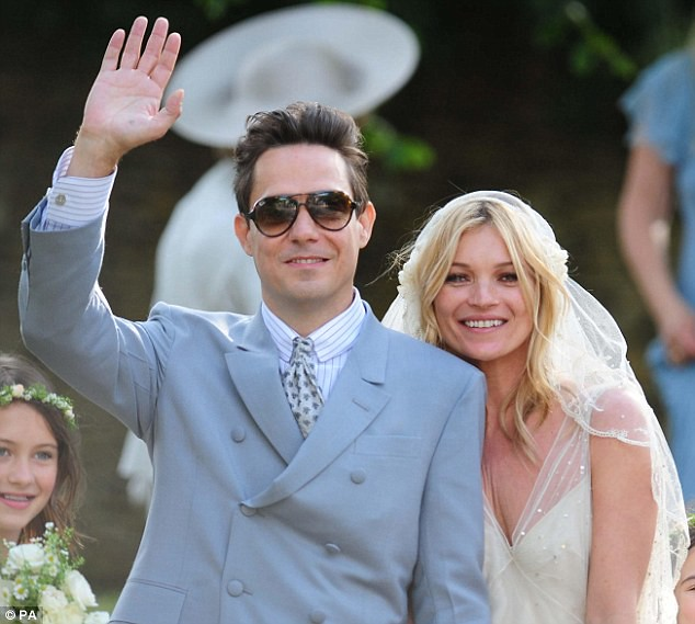 Mrs Rock Chick now! Beaming Kate Moss gets hitched to Jamie Hince with daughter Lila among the 15 bridesmaids  5