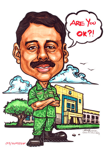 Caricature for Singapore Armed Forces 15062011