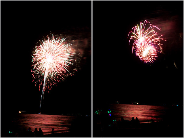 July 4th fireworks diptych 8