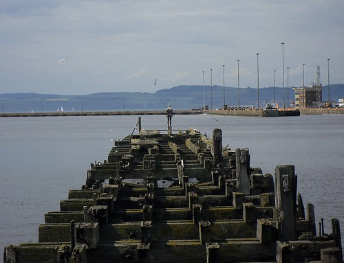 Gormley man on pier