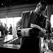 Assistant Winemaker Ronald Du Preez pours a 1979 Jordan Cabernet six liter for guests