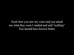 (ashleigh louise.) Tags: depression cutting nothing scars selfharm