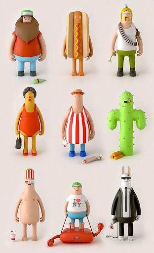 圖像團隊YumYum的有趣角色玩具