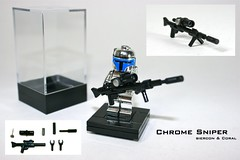 Chrome Sniper (Siercon and Coral) Tags: starwars war gun lego rifle chrome sniper ww2 minifigure moc mandalorian snipe
