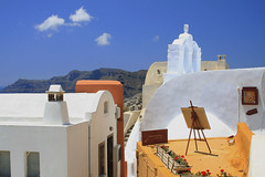 Everywhere a painting (mckeejam) Tags: landscape islands aegean scenic santorini greece oia cyclades