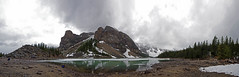 Moraine Lake UWA Panorama (DCZwick) Tags: trees mountain lake snow canada reflection ice clouds rockies rocks alberta banff rockymountains ultrawide banffnationalpark rockpile morainelake canadianrockies towerofbabel uwa valleyofthetenpeaks banffpark pentaxart sigma816