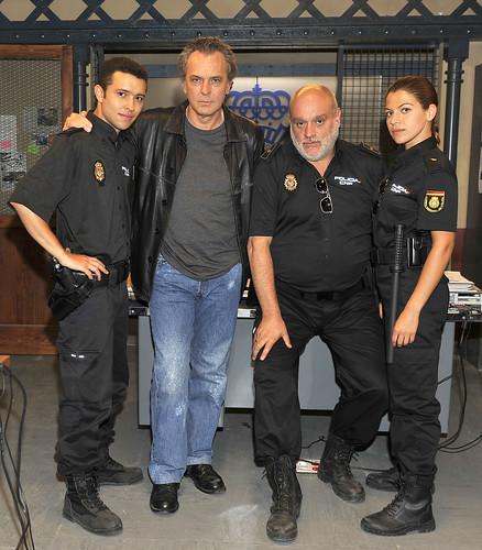 Ayoub El Hilali, José Coronado, Juan Manuel Lara y Thais Blume