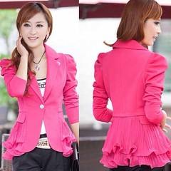 เสื้อสูทผู้หญิงแฟชั่นเกาหลีสวยสูททำงานระบายชีฟอง นำเข้าพร้อมส่งSJ1296 ราคา1100บาท เสื้อสูทผู้หญิง เสื้อสูททำงาน แขนยาวดีไซน์เก๋กระดุม1เม็ด เนื้อผ้าดีมากเกรดพรีเมี่ยมขึ้นห้าง คอปกช่วงเอวระบายผ้าชีฟองพลีทพริ้วสวย เสริมบุคลิกจะใส่ออกงานราชการ พบลูกค้าร่วมประ