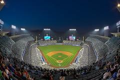Blue Hour at Dodger Stadium (ADW44) Tags: sunset la losangeles baseball stadium cincinnati fisheye bluehour reds hdr dodgers mlb majorleague sigma15mm canon5dmarkiii