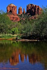 Sedona, Arizona, USA 1 (PULLKATT, SEE MY NEW BLUE EXPO) Tags: park trees wallpaper arizona usa reflection tree green tourism rio rock creek canon reflections river natio