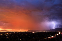 "September 28th lighting behind Salt Lake City, Utah (Scott Stringham ""Rustling Leaf Design"") Tags: air bettereveryday canon canon6d clouds dslr digital fall fullframe getoutside hello lightningstorm lookatme looking passion photo photograph rustlingleafdesign saltlakecity september28th september28thlightingbehindsaltlakecityutah sigma storm stormclouds stringham ut utah wind bedifferent bolt boom buymeabeer convection cumulonimbus desert earth electrical electricalstorm escape graphic land landscape lettherebelight lighting lightning lightningstrike onceuponatime passingstorm photography raggedclouds rustlingleaf scottstringham strike summer thunder thunderstorm wwwrustlingleafdesigncom"