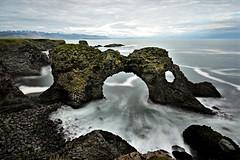 Gattklettur arch, Iceland (Pietro Consigliere) Tags: iceland arch summer travel gatklettur islanda arco landscape seascape