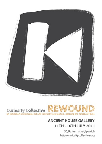 Curiosity Collective Rewound - poster design: Amanda Gower