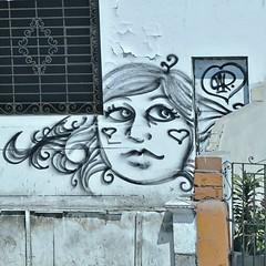 cara con corazones, Lima (lucymagoo_images) Tags: blue peru face metal wall square hearts grate graffiti peeling paint heart lima cara corazon peeled corazones lucymagoo lucymagooimages