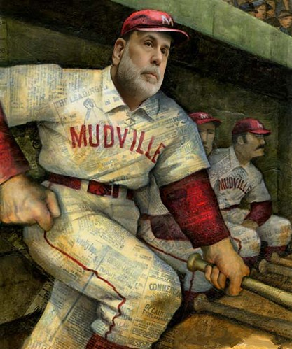 BERNANKE AT THE BAT by Colonel Flick
