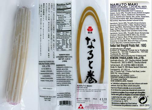 Narutomaki diepvries