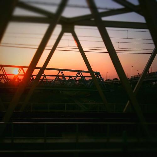 Kitasenju sunset