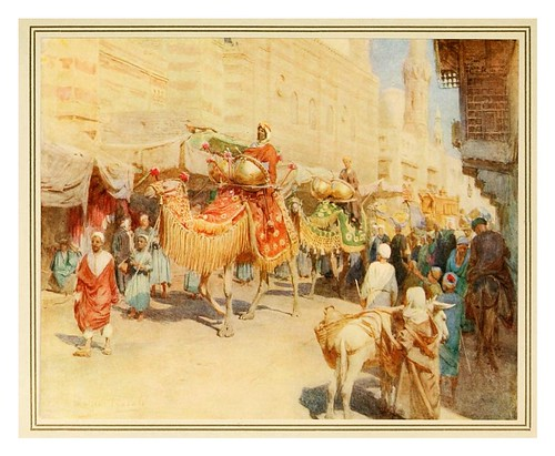 002-Procesion en una boda arabe-An artist in Egypt (1912)-Walter Tyndale