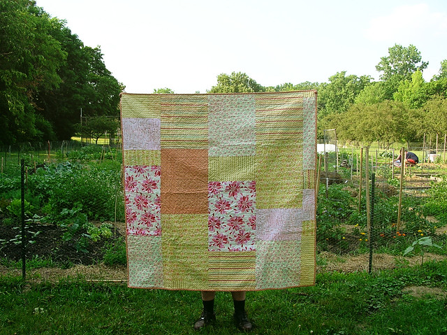 Back of the squares quilt