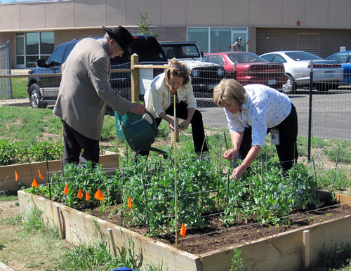 Jim Isgar, Rural Development Colorado State Director Billy Merritt – FSA, Trudy Kareus, FSA State Executive Director ;Tammy Cook of FSA, and Deanna Stock – RD  People's Garden Working Group