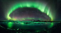 [免费图片] 自然・景观, 夜空, 极光, 绿色, 201107060100