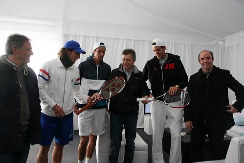 Juan Ignacio Chela - Mauricio Macri visitó a los integrantes de la Copa Davis (4 de 4)