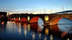 Pont Neuf (lyli12) Tags: bleu pont toulouse soir garonne patrimoine clairage midipyrnes