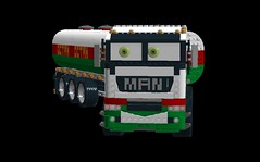 Dan the 'Man' - anthropomorphic 'Pixar Cars' - MAN Heavy Goods Vehicle