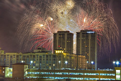 The Grand Finale (TheMorganBurke) Tags: plaza west beach america work canon fire rebel town day florida 4th july grand down firework palm revolution cannon works fl independence finale fourth trump fla hdr towne 550d morganburke t2i