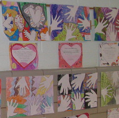 Positive/Negative Hands (ohioholly) Tags: school art youth design march hands drawing 4th negative coloring positive month elementary fourthgrade tangles zentangles