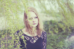 (Annieke ) Tags: portrait woman tree girl fashion vintage ginger daylight model lace smoke dream redhead fade mystic