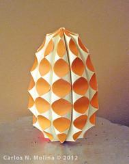 Happy Easter! (Carlos N. Molina - Paper Art) Tags: orange art paperart easter origami egg craft huevos kirigami papel papermodel easteregg papersculpture pascuas paperartist carlosnmolina