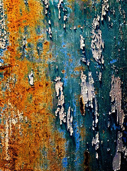 Shredded (Junkstock) Tags: weathered textures texture rustyandcrusty rusty rustic rust peelingpaint patina paint oldusedobjects oldstuff oldandbeautiful junk distressed decay corrosion color closeup blue aged abstraction abstract flickrexplore explore iphone explored